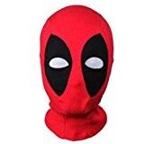 Masque Déguisement Mardi Gras / Cagoule Deadpool Rouge - Tissu Elastique - Taille Unique Adulte - Déguisement Halloween - Super ...
