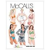 McCall's Patterns M54002pièces taille 4-6-8-10-12AX5Patron de Maillot de Bain et Cover-up, Lot de 1, Blanc