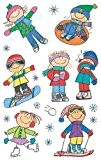Me & My Big Ideas Mambi 4-1/2 Inch by 6 Inch Minis Stickers 3 Sheets/Package, Winter Kids by ME & ...