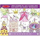 Melissa Bloc de coloriage grand format 50 pages Princesses 14263