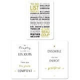Mes Mots Déco CP-LOTTD To Do List Lot de 3 cartes décorative papier Blanc 21 x 15 x 0,3 cm