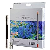 Minitbuy Marco Raffine Paquet de 72 crayons de couleur, avec taille-crayon en métal et extension de crayon offerts