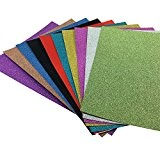 MissCrafts Lot de 10 feuilles de papier cartonné pailleté A4 pour carte DIY Cadeau d'anniversaire de Noël décoration patchwork Bling ...