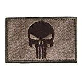 MMRM Swat Punisher Crâne Militaire Patch Tactique Bande de Style Armée Badge Brassard - Sol