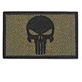 MMRM Swat Punisher Crâne Militaire Patch Tactique Bande de Style Armée Badge Brassard - Vert