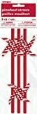 Moulin à vent rouge et blanc papier Pailles, Lot de 3