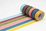 MT Masking Tape MT06P003Z Japonais Tradition Wamon 3 Bande Adhésive Couleurs Assorties 1000 x 1,5 x 0,01 cm Lot de ...