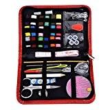 Mudder Couture Kit de Couture/ fil aiguille kit Applicable à la Famille, au Travail et à l'Urgence (Rouge)