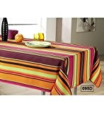 MULTICOLOR - Nappe anti-taches - Ovale 148x240cm