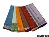 Multicolor Vintage Sari tissé à la main bricolage Wrap Assorted Tissu Home Decor Sari Women Dress Drapé Saree