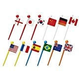 National flags food picks flags for Bento Box Lunch Box by Kawaii