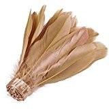 Neotrims véritable plume d'oie plume Coupe Frange 15-18cm sur ruban satin, 13couleurs, Home Décor, Apparel frontière, déguisement,, Fourrure synthétique, Sand ...