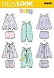 NEW LOOK bébé 6440Patron de Couture Grenouillère, robe d'été et sans culotte + Minerva Crafts Craft Guide