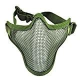 niceEshop(TM) Masque de Protection en Grillage / Demi-masque de Visage pour Jeu de Guerre et Airsoft (Vert)