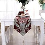 OLQMY-Décoration de table,Drapeau de table, nappe chinois de luxe européen, linge armoire table basse TV américaine de Village, serviette lit ...