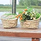 OLQMY-Pots de fleurs, osier et paille, panier de fleur, vase de l'art, ornements décoratifs,Trompette