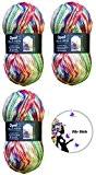Opale Hundertwasser Edition Set économique avec pelote de laine de 100g 75% laine vierge/25% polyamide Longueur env. 425m/100g Pour aiguilles ...