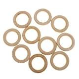 OULII 10pcs 5,5 cm bois naturel boucles anneaux bois matériau bois pour BRICOLAGE bijou