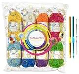 Pack pelotes de laine premium - 8x30g pelotes de laine en acrylique aux couleurs de l'arc-en-ciel - 60 mètres de ...