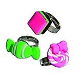 Padaboo PMZ601 Kit de pâte à modeler 3 Bagues Bonbons  Vert/Rose 8  x  10,5  x  ...