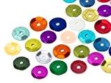 Paillette à coudre | Rond | 6.0mm, Colormix, 50 Gramme (env. 5.000 Pièces)