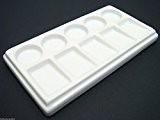 Palette en porcelaine rectangulaire avec 10emplacements Pour mélange de peinture