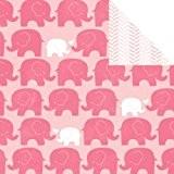 Papier à motif My baby - Eléphant rose