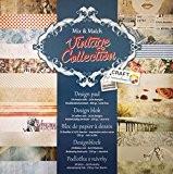 Papier cartonné pour Scrapbooking 24 feuilles 30 x 30 cm (Vintage Collection)