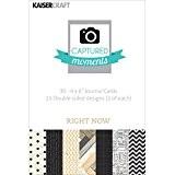 Papier Moments capturés Kaisercraft Cartes Double face 15x 10cm 30-right maintenant