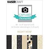 Papier Moments capturés Kaisercraft Cartes Double face 3x 44-right maintenant