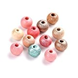 Paquet 150+ Mixte Bois 8mm Perles Rond - (HA23205) - Charming Beads