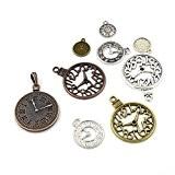 Paquet 30 Grams Mixte Tibétain Mélange Aléatoire Breloques Horloges - (HA06710) - Charming Beads