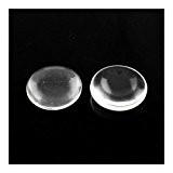 Paquet 30 x Clair Verre 12mm Cabochon Rond Plat - (Y03225) - Charming Beads