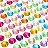 Parth Impex 1699pièces 3mm 4mm 5mm 6mm Bling Multicolore Autocollant Strass Feuille Acrylique Strass Jewel Gem Stickers pour ordinateur portable ...