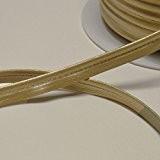 Passepoil en simili cuir doré souple, belle qualité (Par mètre)
