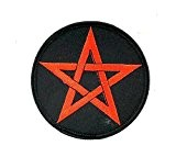 Patch ecusson brode thermocollant backpack pentagram 666 satan satanic pentacle