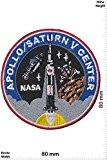 Patches - Nasa - Apollo / Saturn V Center - Aéronautique et espace - Nasa - Nasa- Applique embroidery Écusson ...