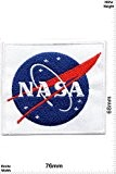 Patches - Nasa - white - Space - Space Patches - Space Mission Aeronautical - Vest - Iron on Patch ...