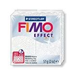 Pâte Fimo Effect 57gr Blanc pailleté (n°052)