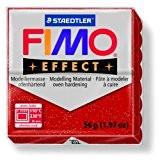 Pâte Fimo Effect 57gr Rouge pailleté (n°202)