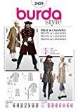 Patron de couture Burda 2459 Femme-Costume-Pirate & Casanova tailles 36-48