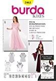 Patron de couture Burda 2463 Femme-Château Princess Costume Fée & Taille :  6-12