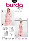 Patron de couture Burda femme 7880 historiques 1888 Bustle Costume robe Tailles 42 à 54
