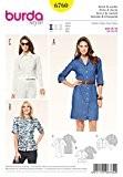 Patron de couture Burda femme facile 6760-Shirt & Robe chemise, veste