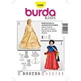 Patron déguisement enfant princesse et Blanche-neige - Burda 2480