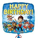 Paw Patrol - Party Anniversaire Ballon Feuille Happy Birthday 43cm