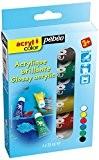 Pébéo Acrylcolor Kit découverte de peinture 6 tubes de 20 ml Assorties