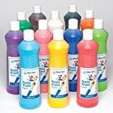 Peinture pré-mixée à base d'eau en 6couleurs assorties pour peindre et réaliser diverses activités manuelles - Kit de loisirs créatifs ...