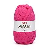 Pelote de Fil XXL Katia X-TREME pour tricot et corchet. Réaliser votre déco mode et tendance (Fuchsia)