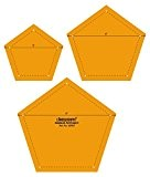 Pentagone Quilting Patchwork Forme Echelle Modèle Ensemble de 3 Pcs